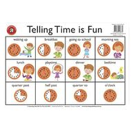 Wall charts officeworks learning can be fun desk mat time telling time is fun gumiabroncs Gallery