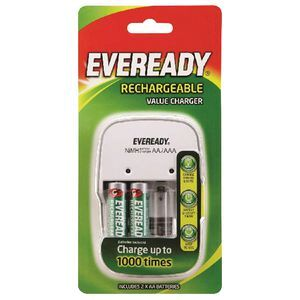 Eveready Value Charger for NiMH AA and AAA Batteries