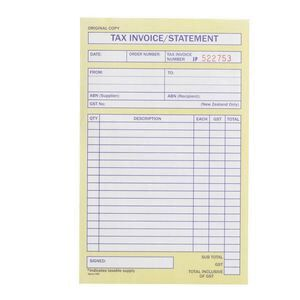 Spirax Invoice And Statement Book No Officeworks - Invoice statement