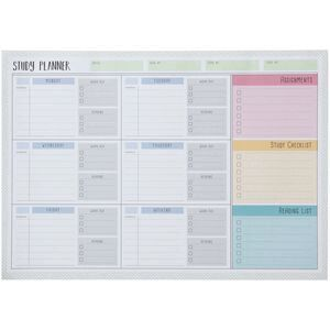 studymate a3 weekly desk planner pad 60 sheets officeworks