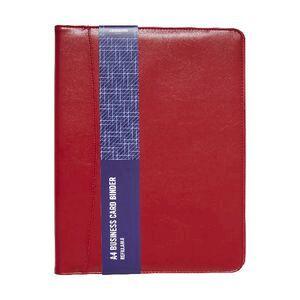 Jburrows business card binder red officeworks jburrows business card binder red reheart Image collections