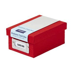 Jburrows business card storage box red officeworks jburrows business card storage box red reheart Gallery