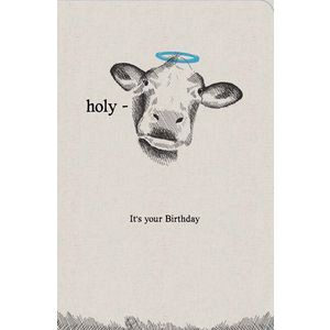 Frankly Funny Birthday Card Holy Cow