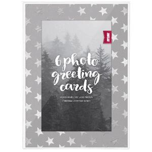 Shot 2 go christmas photo greeting card silver 6 pack officeworks shot 2 go christmas photo greeting card silver 6 pack m4hsunfo