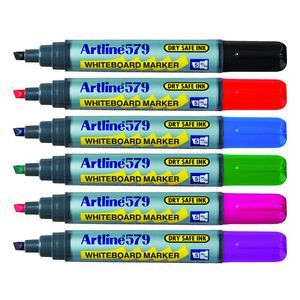 Artline 579 Whiteboard Markers Assorted 6 Pack | Officeworks