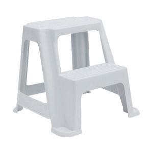 2 Step Stool 150kg White Officeworks
