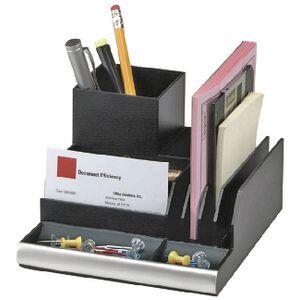 italplast desk organiser black