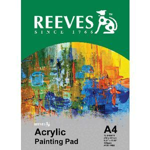 Reeves a4 acrylic painting pad 12 sheet officeworks reeves a4 acrylic painting pad 12 sheet gumiabroncs Gallery
