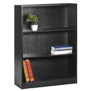 Austin 3 Shelf Bookcase Black