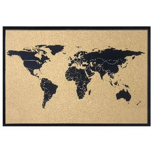 Jburrows world map cork board 900 x 600mm officeworks jburrows world map cork board 900 x 600mm gumiabroncs Image collections