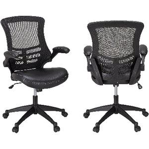 baku medium back chair black officeworks
