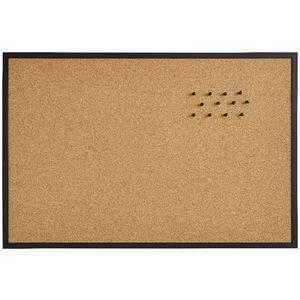 J Burrows Cork Board 900 x 600mm Black