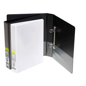 j burrows insert binder a5 2 d ring 25mm black officeworks