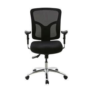 professional ergonomic extra heavy duty mesh chair black officeworks