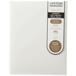 Ncl 20 Page Refillable Self Adhesive Photo Album White Officeworks