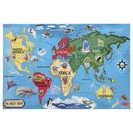 Maps officeworks melissa doug world map floor puzzle 33 piece gumiabroncs Gallery