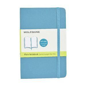 moleskine classic plain pocket notebook 192 page blue officeworks
