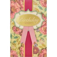 Birthday gift cards officeworks card couture birthday card ribbon and roses m4hsunfo
