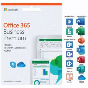 Microsoft Office 365 Business Premium 1 Person 12 Months Card