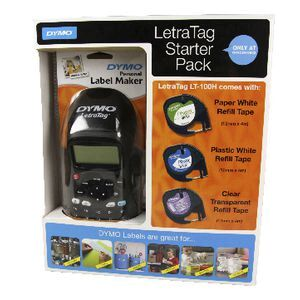 DYMO LetraTag Black Labeller and Starter Pack LT-100H