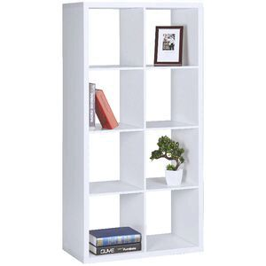 Horsens 8 Cube Bookshelf White