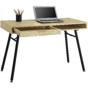 Bergen 1 Drawer Semi Assembled 1100mm Oak/Black | Officeworks