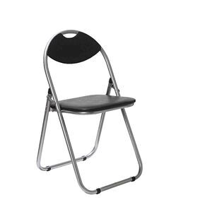 padded folding chair black officeworks
