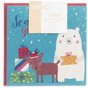 Otto brights square christmas cards joy 10 pack officeworks otto brights square christmas cards joy 10 pack m4hsunfo