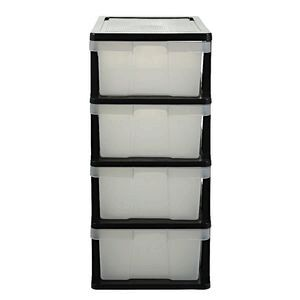 j burrows 4 drawer storage cabinet clear officeworks