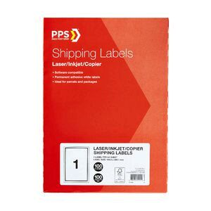 Pps 1up A4 Mailing Labels 100 Pack