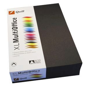 quill coloured paper 80gsm a4 black 500 sheet ream officeworks