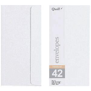 Quill DL Linen Bond Envelopes White 10 Pack