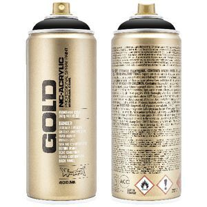 Montana GOLD Spray Paint 400mL Shock Black