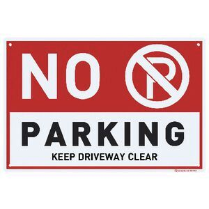 Sandleford No Parking Sign 30 X 45cm Officeworks