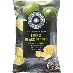 Red Rock Deli Lime and Black Pepper Chips 165g   Officeworks