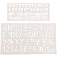 studymate letter stencils 2 sizes
