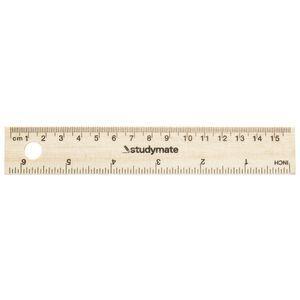 Studymate Wooden Ruler 15 Cm Officeworks