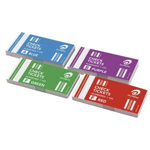 olympic check ticket books 4 pack officeworks