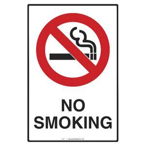 mills display no smoking sign 300 x 450mm officeworks