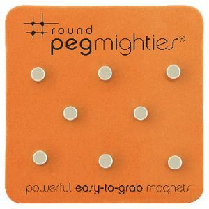 Three By Three Round Peg Mighties Magnets 8 Pack | Officeworks