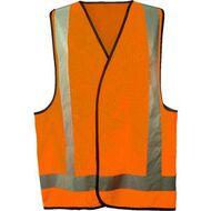 new concept b8875 dc3fd Trafalgar Hi-Vis Safety Vest Orange L