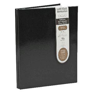 Ncl 20 Black Page Refillable Self Adhesive Photo Album Black
