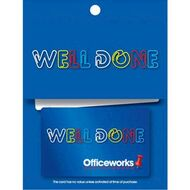 Gift cards officeworks officeworks gift card well done 100 negle Images