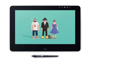 Wacom Cintiq pen-displays allow you to work directly on screen with professional pressure-sensitive pen technology.