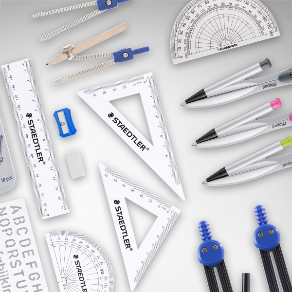 Maths Sets, Compasses & Protractors