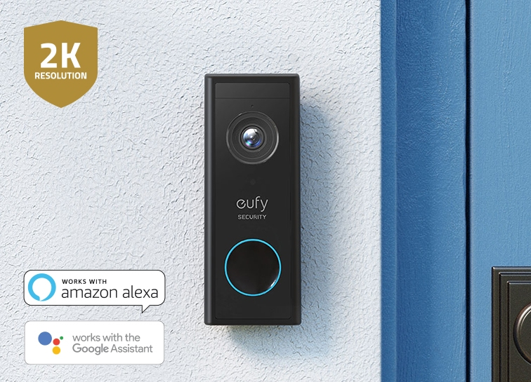 Eufy Video Doorbell | See who's there before the ring with instant alerts and picture perfect footage of every visitor, even if they don't press the doorbell.
