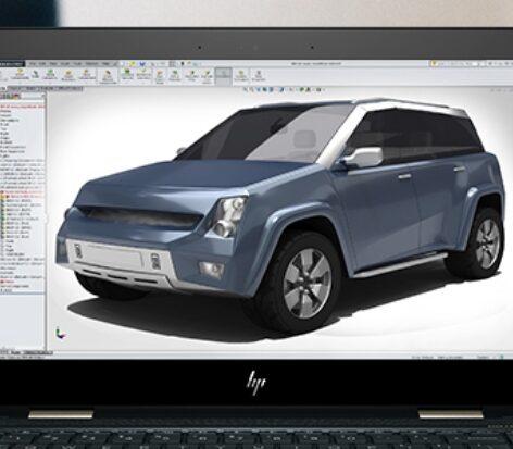 HP Spectre x360 - 3D rendering