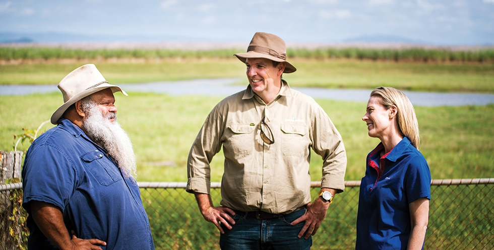 Queensland - Working with Jacob Cassidy and other traditional owners at Mungalla Station to improve water quality and the health of the reef.