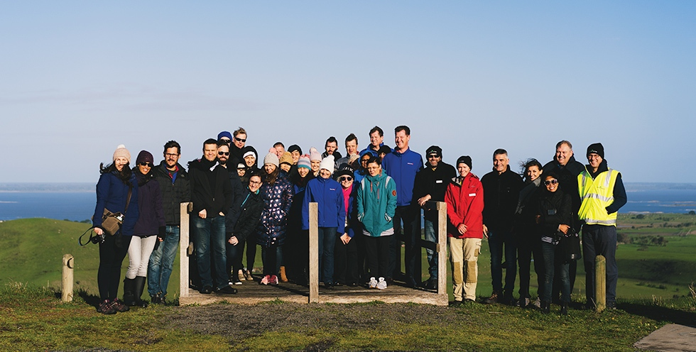 VIC - Team members and suppliers at a planting event in Victoria.