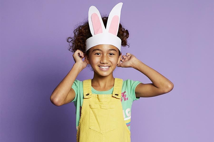 Easter hat ideas: cardboard bunny ears